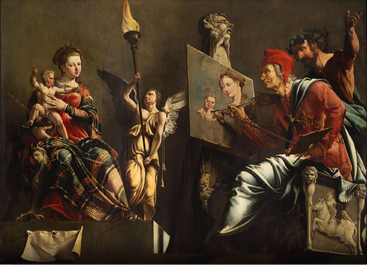 Lukas malt die Jungfrau von Maarten van Heemskerck